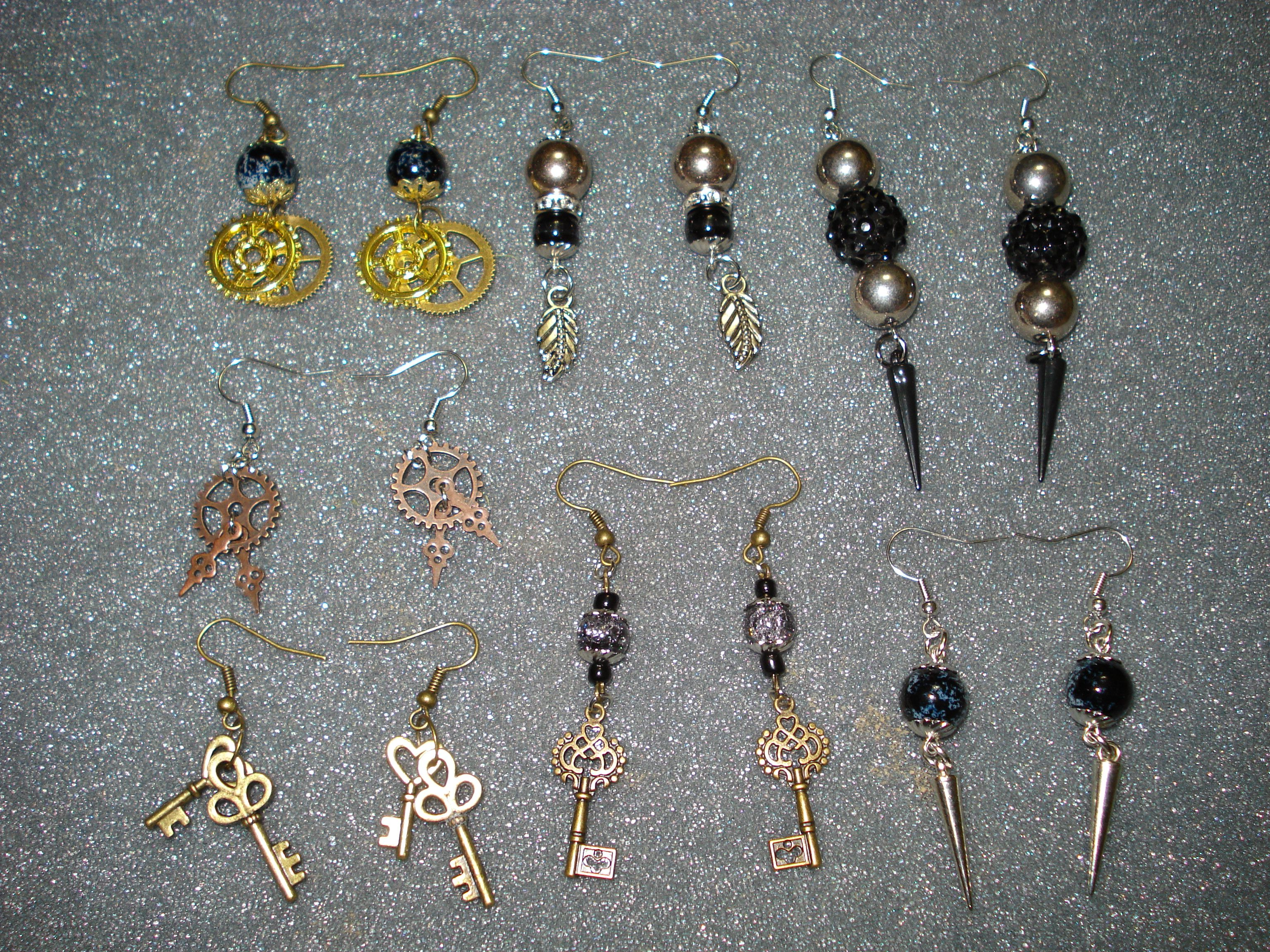 More Steampunk Jewelry: Earrings, Necklaces, Lapel Pins, and Cuff ...
