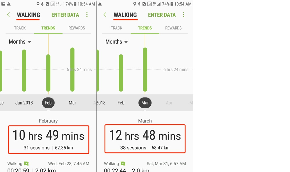 Fitness Challenge - March Report - Walking