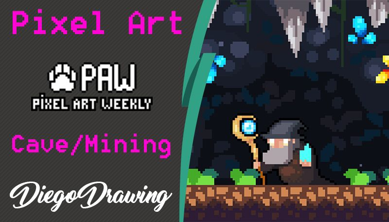 Pixel Art Weekly - Wizard in Cave — Steemit
