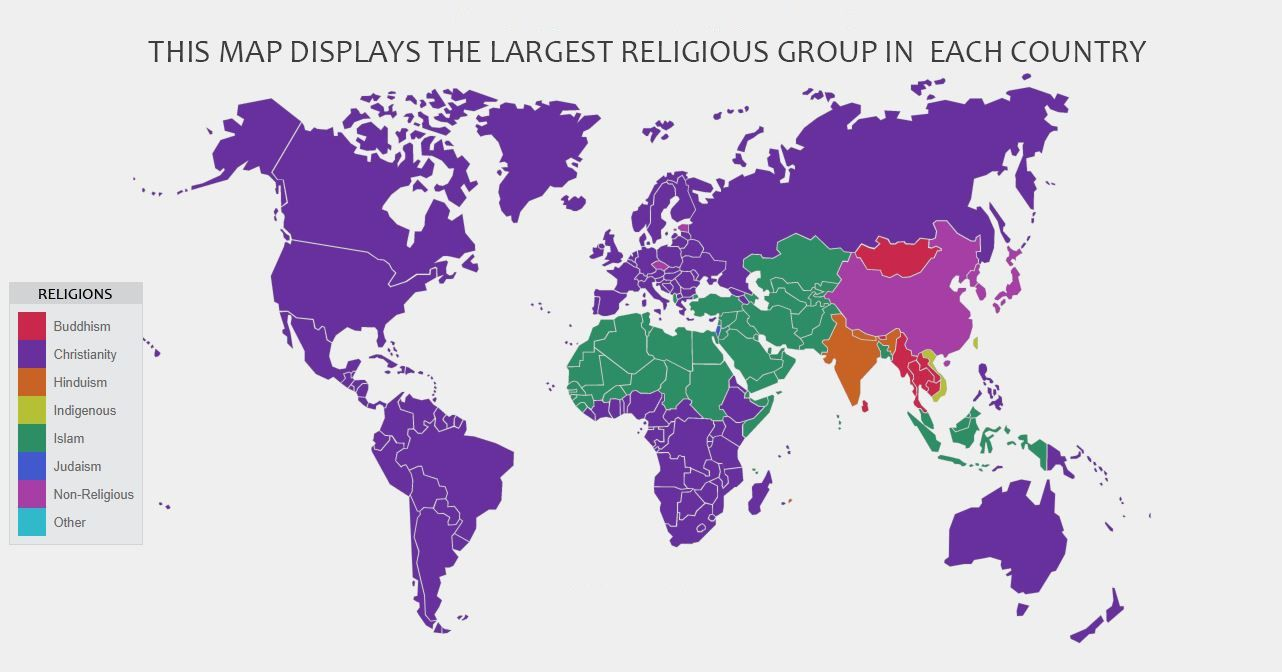 Who Are You Major Religions Of The World Steemit - World's largest religions in order