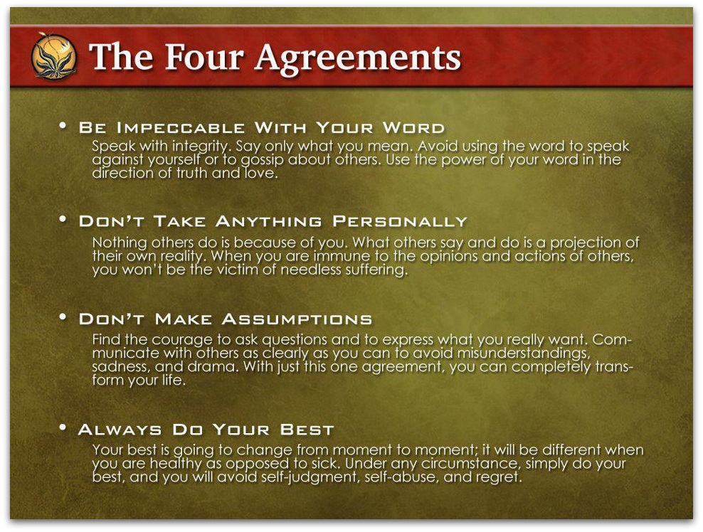How Could Anyone Disagree With The Four Agreements Steemit