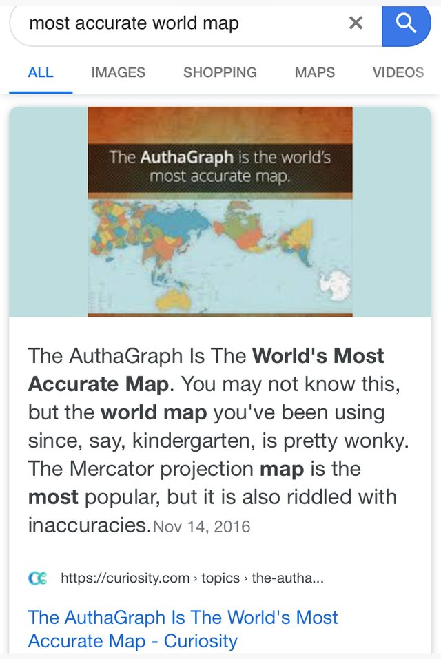 TIL most accurate world map — Steemit