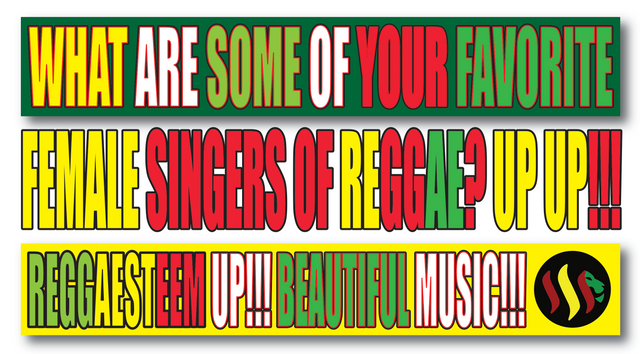 Female Singers of Reggae Up Up!!! We all Know the Famous