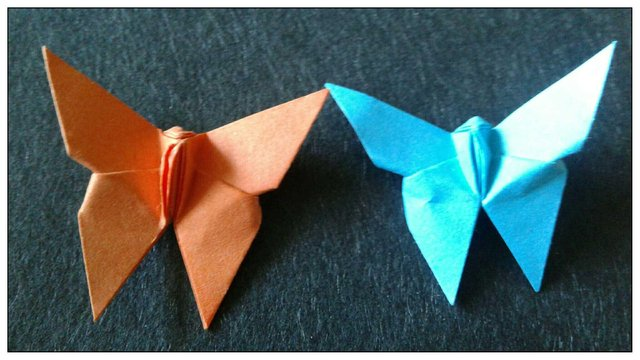 Traditional Origami Butterfly Tutorial - YouTube | 360x640